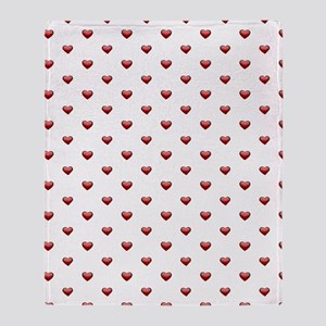 Classic Hearts Pattern Throw Blanket