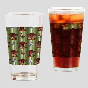 Christmas Carousel Drinking Glass