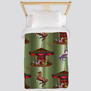 Christmas Carousel Twin Duvet Cover