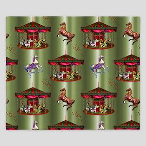 Christmas Carousel King Duvet