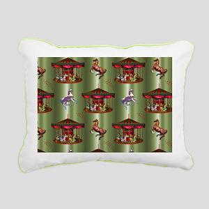 Christmas Carousel Rectangular Canvas Pillow