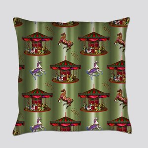 Christmas Carousel Everyday Pillow