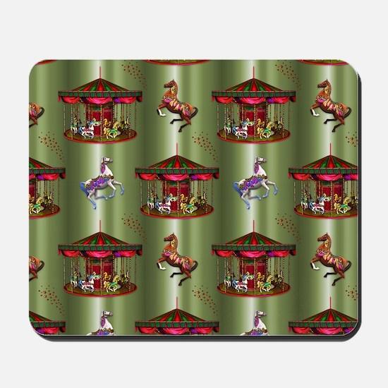 Christmas Carousel Mousepad