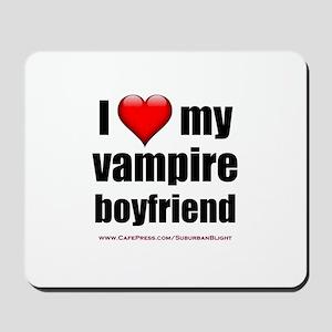 """Love My Vampire Boyfriend"" Mousepad"