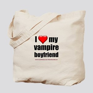 """Love My Vampire Boyfriend"" Tote Bag"