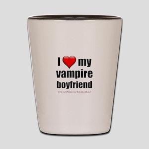 """Love My Vampire Boyfriend"" Shot Glass"