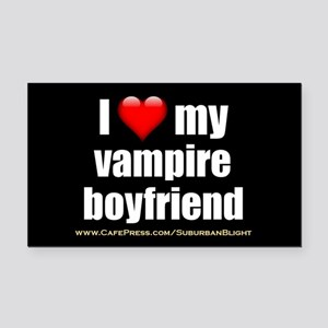 """Love My Vampire Boyfriend"" Rectangle Car Magnet"