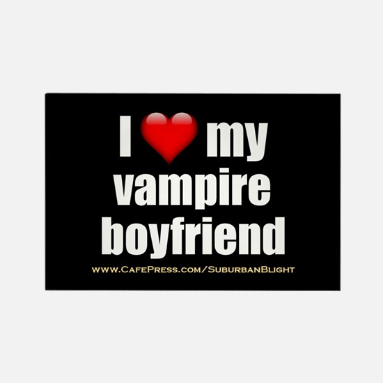 """Love My Vampire Boyfriend"" Rectangle Magnet"