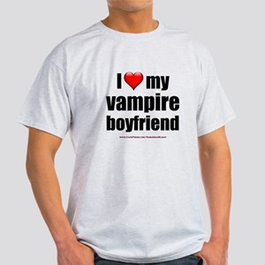 """Love My Vampire Boyfriend"" Light T-Shirt"