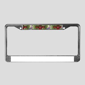 Christmas Carousel License Plate Frame