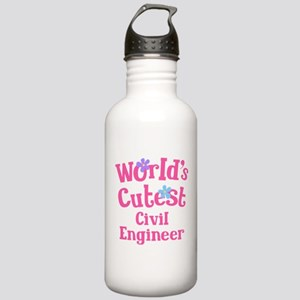 Worlds Cutest Civil Engineer Stainless Water Bottl