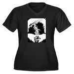 Namor Women's Plus Size V-Neck Dark T-Shirt