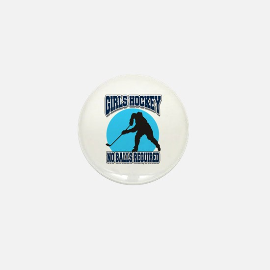 Girl's Hockey Mini Button