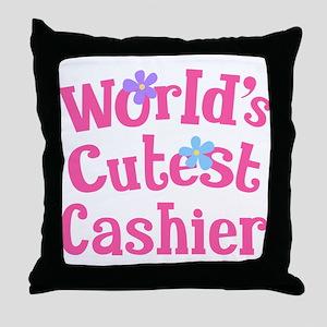 Worlds Cutest Cashier Throw Pillow