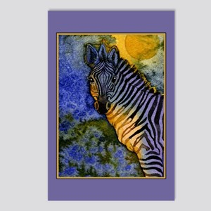 Gold Moon Zebra Postcards (Package of 8)