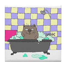 Cat Bath Tile Coaster
