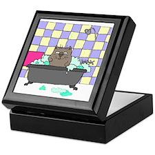 Cat Bath Keepsake Box