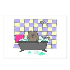 Cat Bath Postcards (Package of 8)