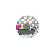 Cat Bath Mini Button