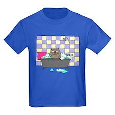 Cat Bath Kids Dark T-Shirt