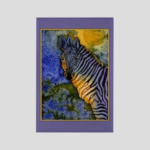 Gold Moon Zebra Rectangle Magnet