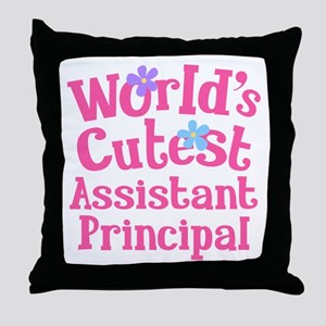 Worlds Cutest Assistant Principal Throw Pillow
