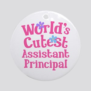 Worlds Cutest Assistant Principal Ornament (Round)