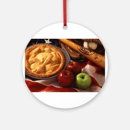 Apple Pie Ornament (Round)