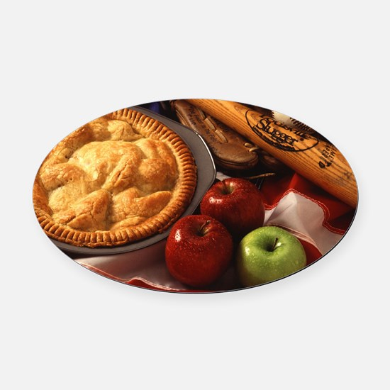 Apple Pie Oval Car Magnet