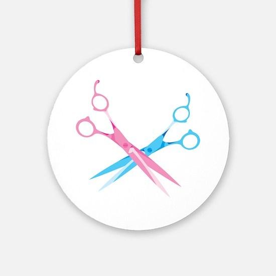 Scissors Ornament (Round)