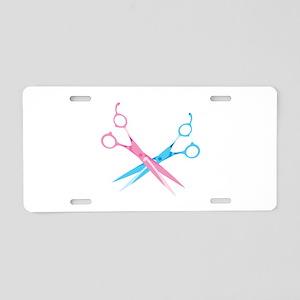 Scissors Aluminum License Plate