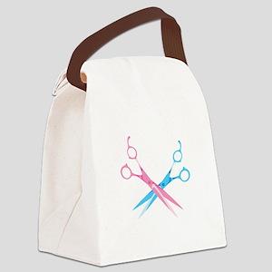 Scissors Canvas Lunch Bag