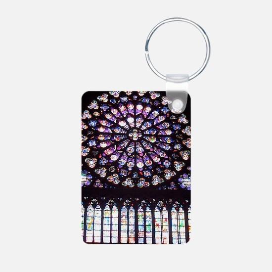 Notre Dame Window Aluminum Photo Keychain