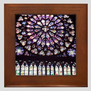 Notre Dame Window Framed Tile