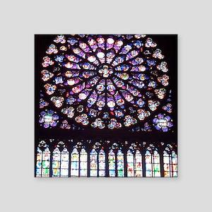 """Notre Dame Window Square Sticker 3"""" x 3"""""""