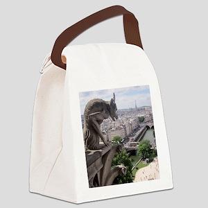 Gargoyle at Notre Dame Canvas Lunch Bag