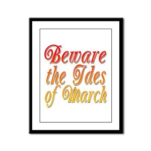 Beware the Ides of March Framed Panel Print