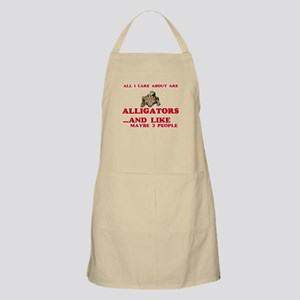 All I care about are Alligators Light Apron