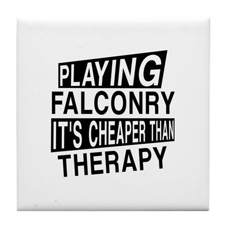 Awesome Falconry Player Designs Tile Coaster