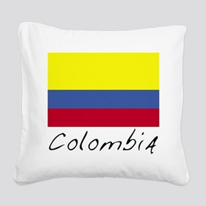 Colombia (Flag, World) Square Canvas Pillow