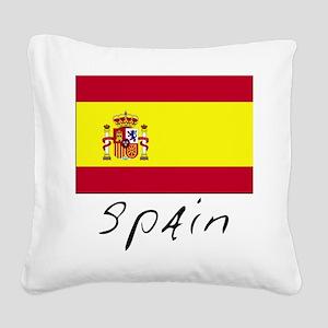 Spain (Flag, International) Square Canvas Pillow