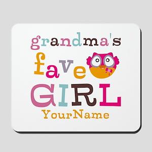 Grandmas Favorite Girl Personalized Mousepad