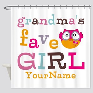 Grandmas Favorite Girl Personalized Shower Curtain