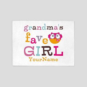 Grandmas Favorite Girl Personalized 5'x7'Area Rug