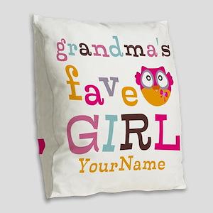 Grandmas Favorite Girl Personalized Burlap Throw P