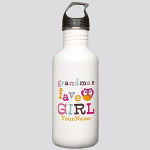Grandmas Favorite Girl Personalized Stainless Wate