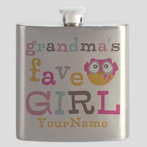 Grandmas Favorite Girl Personalized Flask
