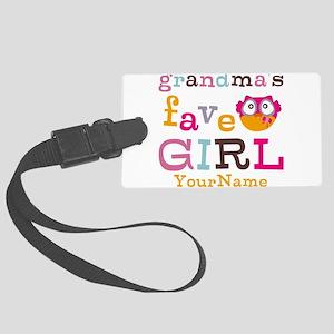 Grandmas Favorite Girl Personalized Large Luggage