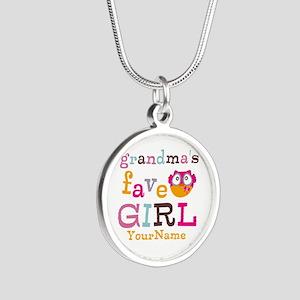 Grandmas Favorite Girl Personalized Silver Round N