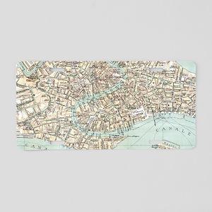 Vintage Venice Aluminum License Plate